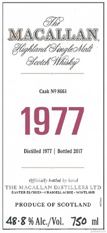 The Macallan - 1977 Highland Single Malt Scotch Whiskey
