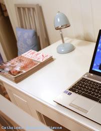 Skrivehjørnet mitt - der jeg også får utløp for min kreativitet!