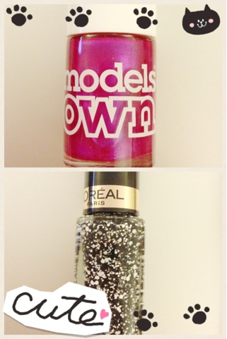 A picture of Model's Own nail varnish and L'Oreal's top coat confetti unopened