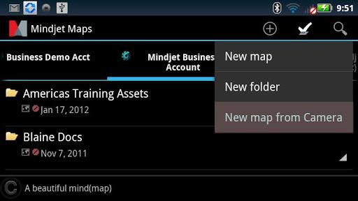 Mindjet for Android screenshot 1
