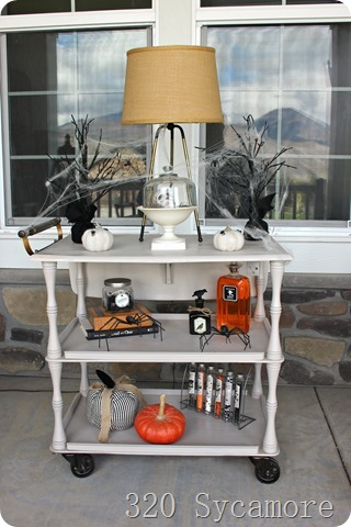 halloween cart decor