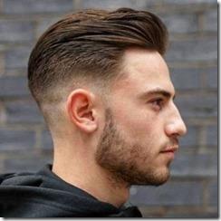 Midfade haircut brown hair men