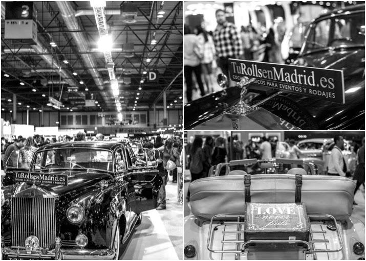 Fotografías de los Rolls Royce en la feria de bodas de Madrid.