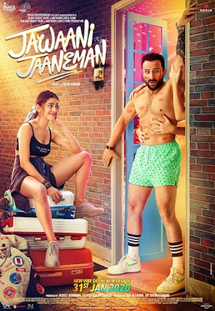 Poster Of Hindi Movie Jawaani Jaaneman 2020 Full HD Movie Free Download 720P Watch Online