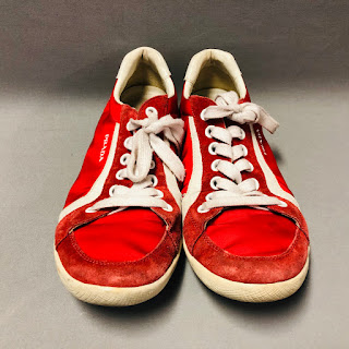 Prada Red Nylon Sneakers