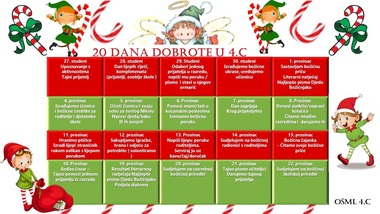 božićne čestitke ppt 20 dana dobrote   4.c Pčelice božićne čestitke ppt