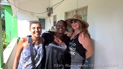 Ale, Isabelle e Nancy - Codrington - Barbuda