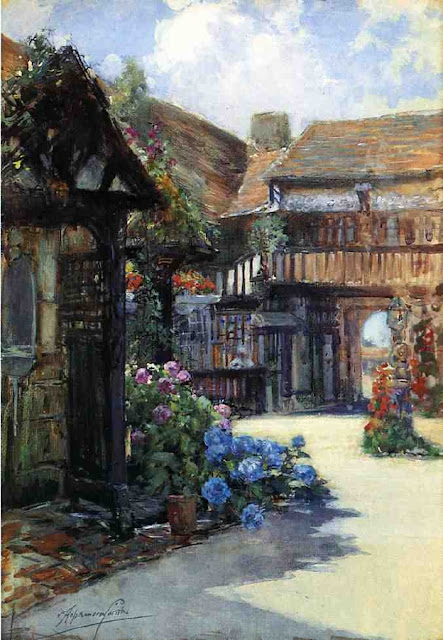 Francis Hopkinson Smith - Courtyard Scene, Inn of William the Conquueror.