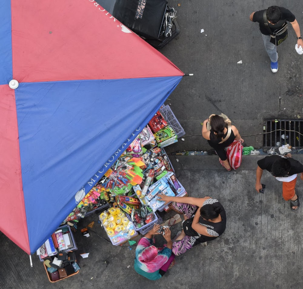 street markets down below, from the Recto LRT station
