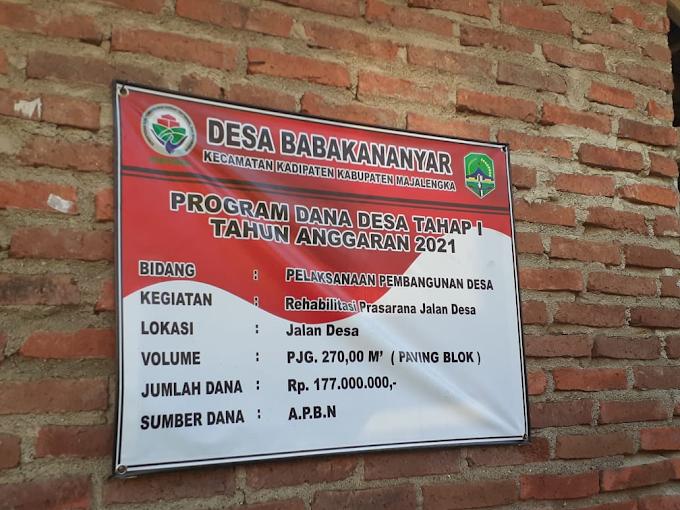 Pemasangan Paving Blok di Desa Babakananyar Diduga Tidak Transparan