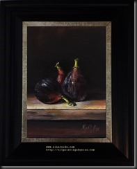 Bottle and red onions framed