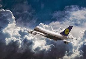 Lufthansa Boeing 3D modellezés