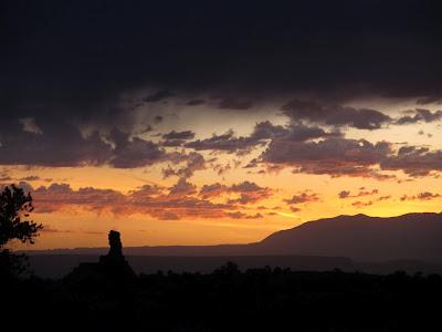 Chimney Rock at sunrise on Saturday
