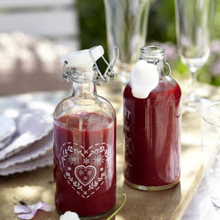 Raspberry Lime Vodka Crush.