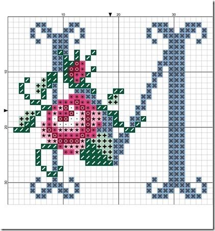 abc punto cruz letras con rosas  (12)