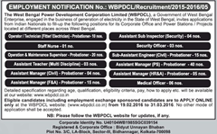 WBPDCL Recruitment 2016 indgovtjobs