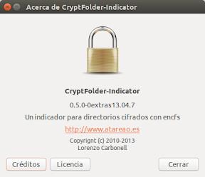 CryptFolder Indicator - Acerca de