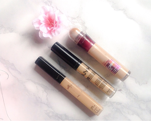 Maybelline Fit Me, Age Rewind & Nyx HD Concealers Review