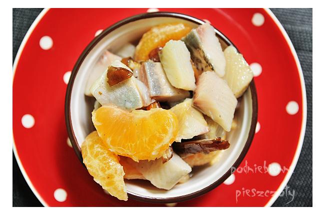 Świąteczne śledzie z mandarynkami i wanilią