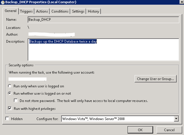 Automatically Backup DHCP