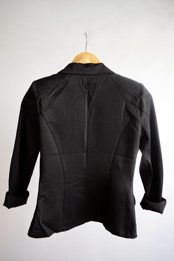 Veste noir de type blazer