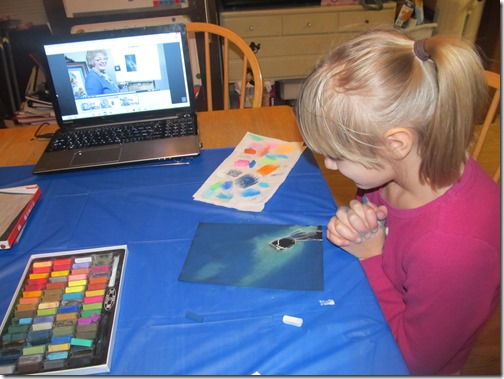 using Creating a masterpiece homeschool art