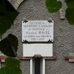 Maison Maurice Ravel : plaque