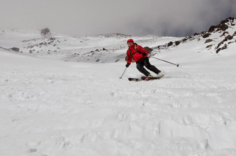 Coborare din tura de aclimatizare la 4000 m