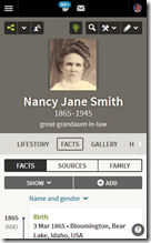 Ancestry.com responsive design adjustments