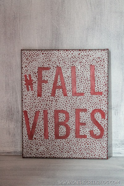 #fallvibes canvas art & free printable!