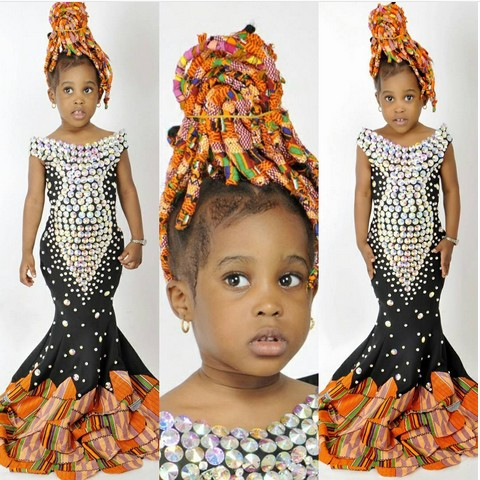 Little Girl Rocks Ankara Braids To Mark Birthday (photos)