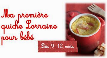 recette bebe Quiche Lorraine