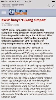 kwsp, usia 60 tahun, pilihan, hak anda