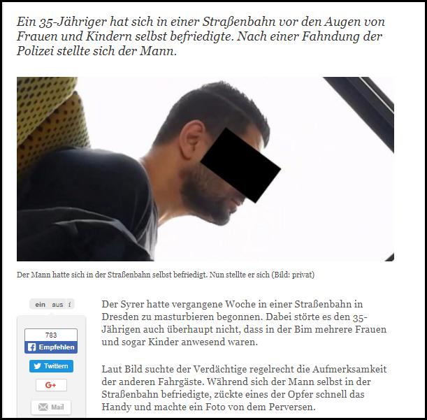 Masturbierender Syrer Dresden