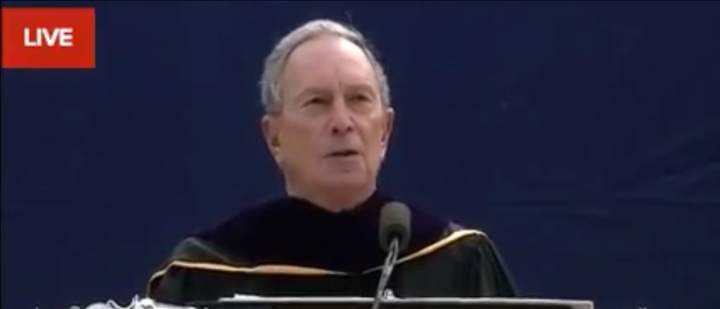 Bloomberg jeered at U.Michigan for suggesting free speech