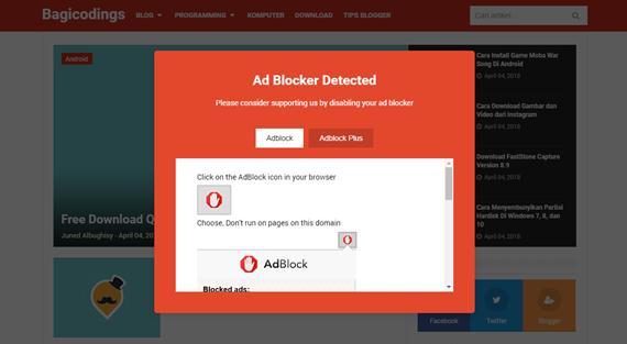 Cara Mudah Memasang Adblock Killer Pada Template Blogger