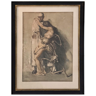 Ivo Saliger Signed 'Der Arzt' Hand-Colored Etching