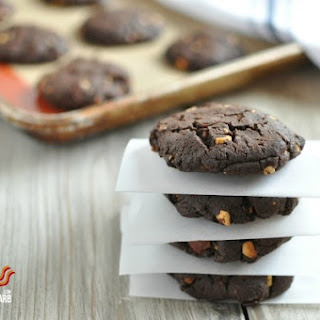 Chewy Chocolate Peanut Butter Bacon Cookies – Low Carb, Gluten Free.