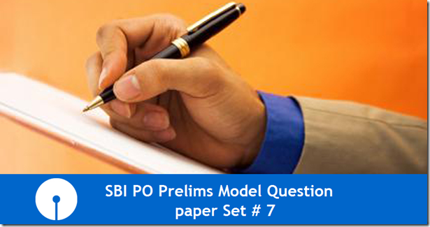 SBI PO 2017 Model Question paper Set 7 PDF Download