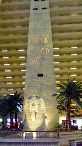 What is the lighted message telling me on this obelisk inside the Luxor? I have no idea