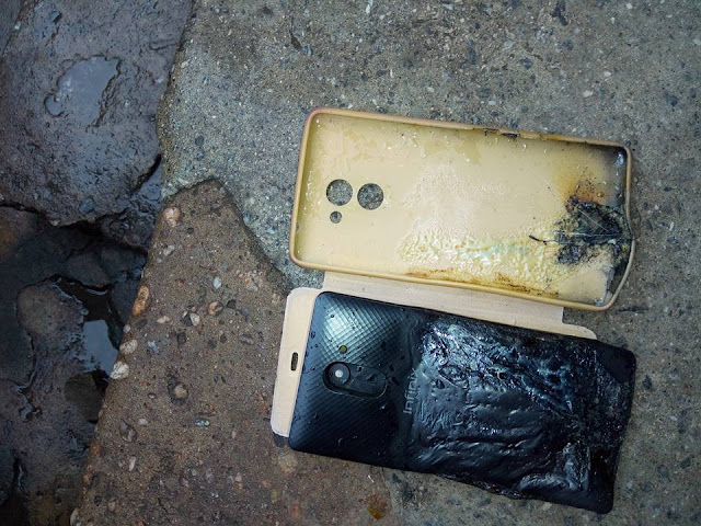 Infinix Hot 4 Explodes While In Owner's Pocket - Photos 1