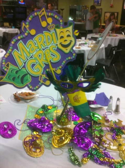 Mardi Gras Wedding Cake Topper