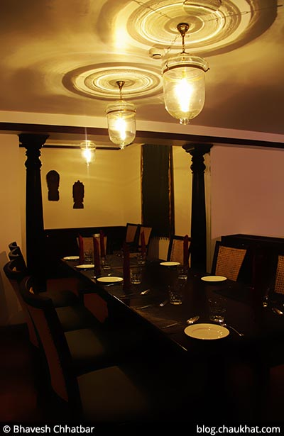 Seating area for a large family, at Savya Rasa [Koregaon Park, Pune]