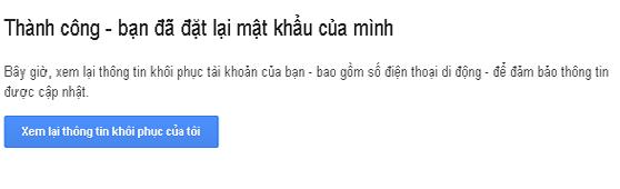 lấy mật khẩu gmail thành công