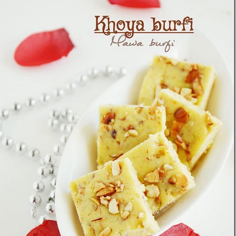 Khoya burfi / Mawa burfi