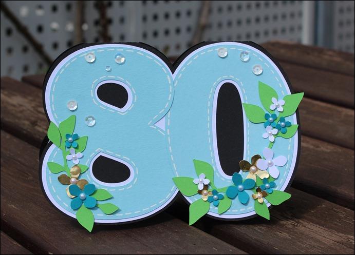 Einladung 80 Geburtstag Blumen