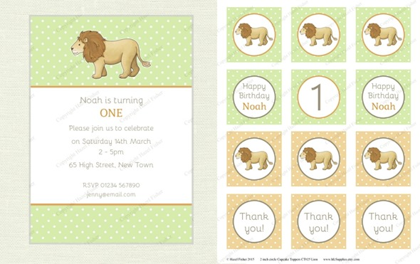 2015 April 30 monthly review new printables party lion baby shower birthday cupcake toppers hazelfishercreations