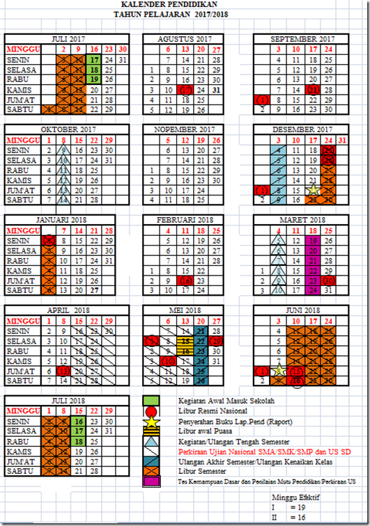 Kalender Pendidikan 2017 2018