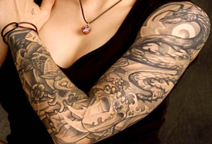 female arm tattoos