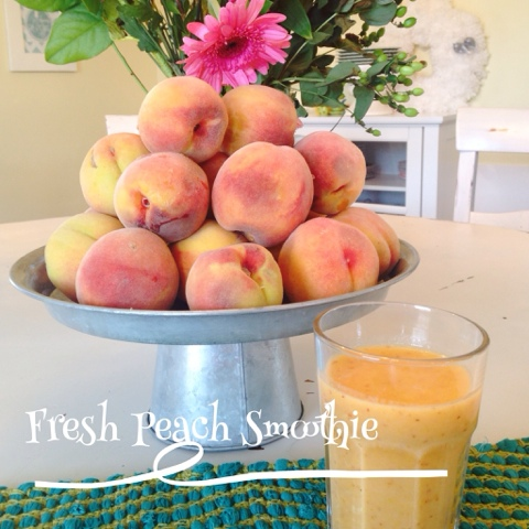 Fresh peach smoothie, smoothies